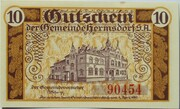 10 Pfennig (Hermsdorf in Thüringen) – reverse