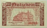 25 Pfennig (Hermsdorf in Thüringen) – reverse