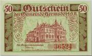 50 Pfennig (Hermsdorf in Thüringen) – reverse