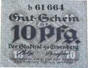 10 Pfennig (Eisenberg in Thüringen) – obverse