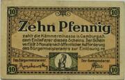 10 Pfennig (Camburg) – obverse