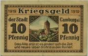 10 Pfennig (Camburg) – reverse