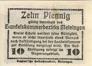 10 Pfennig (Meiningen; Handels- und Gewerbekammer) – reverse