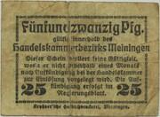 25 Pfennig (Meiningen; Handels- und Gewerbekammer) – reverse