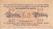 50 Pfennig (Meiningen) – reverse