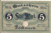 5 Mark (Pößneck) – obverse