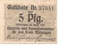 5 Pfennig (Meiningen; Handels- und Gewerbekammer) – obverse