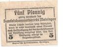 5 Pfennig (Meiningen; Handels- und Gewerbekammer) – reverse
