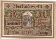 50 Pfennig (Oberlind) – obverse