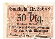 50 Pfennig (Meiningen; Handels- und Gewerbekammer) – obverse