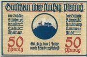 50 Pfennig (Hildburghausen, Eisfeld, Themar, Römhild, Heldburg, Ummerstadt) – obverse