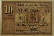 10 Pfennig (Auma) – obverse