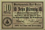 10 Pfennig (Bad Sulza) – obverse