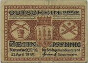 10 Pfennig (Neustadt an der Orla) – obverse