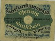 25 Pfennig (Eisenach) – obverse