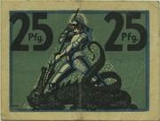25 Pfennig (Eisenach) – reverse