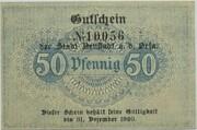 50 Pfennig (Neustadt an der Orla) – reverse