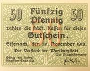 50 Pfennig (Eisenach) – obverse