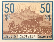 50 Pfennig (Eisenach) – reverse