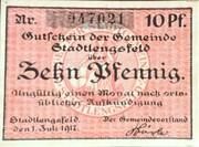 10 Pfennig (Stadtlengsfeld) – obverse