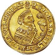 2 Ducat - Johann Philipp & Friedrich Wilhelm II (Saalfeld) – obverse