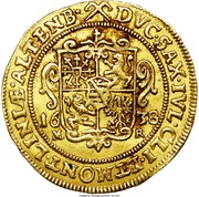 2 Ducat - Johann Philipp & Friedrich Wilhelm II (Saalfeld) – reverse
