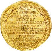 10 Ducat - Duke Friedrich Wilhelm III (Death of Friedrich Wilhelm III) – reverse