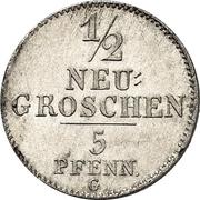 ½ Neugroschen / 5 Pfennige - Joseph – reverse
