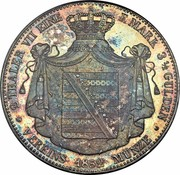 2 Thaler / 3½ Gulden - Georg – reverse