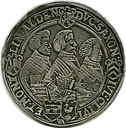 1 Thaler - Johann Philipp I, Friedrich VIII, Johann Wilhelm IV, & Friedrich Wilhelm II -  reverse