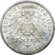 5 Mark - Ernst I (Golden Reign) -  reverse