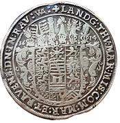 1 Thaler -  Johann Philipp, Friedrich, Johann Wilhelm and Friedrich Wilhelm II. – reverse