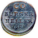 1 Heller - Albrecht III – reverse
