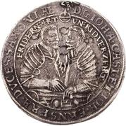 1 Thaler - Johann Casimir and Johann Ernst – obverse