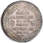 1 Reichsthaler - Johann Casimir (Sterbetaler) – reverse