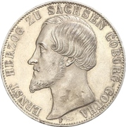 2 Thaler / 3½ Gulden - Ernest II – obverse