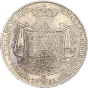 2 Thaler / 3½ Gulden - Ernest II – reverse