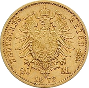 20 Mark - Ernst II – reverse