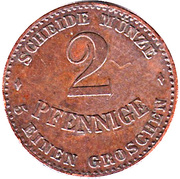 2 Pfennige - Ernst II – reverse