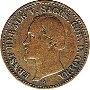 1 Groschen - Ernst II – obverse
