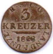 3 Kreuzer - Ernst I – reverse