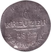 6 Kreuzer - Ernst I – reverse