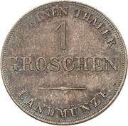 1 Groschen - Ernst I – reverse