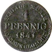 1 Pfennig - Ernst I – reverse