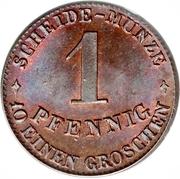 1 Pfennig - Ernst II – reverse
