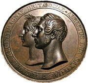 Medal - Queen Victoria & Prince Albert, Marriage (by Helfricht) – obverse
