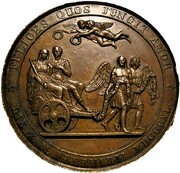 Medal - Queen Victoria & Prince Albert, Marriage (by Helfricht) – reverse