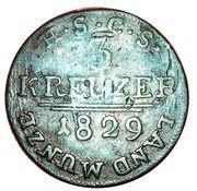 3 Kreuzer - Ernest I – reverse