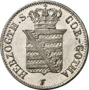 ½ Groschen - Ernst II – obverse