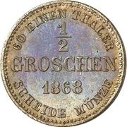 ½ Groschen - Ernst II – reverse
